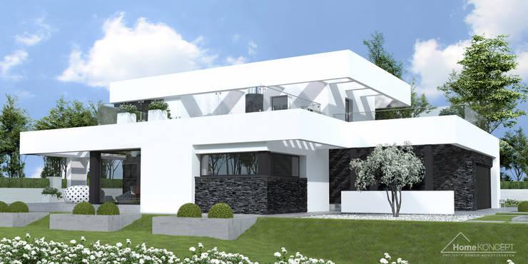 Projekt domu HomeKONCEPT-41: styl nowoczesne, w kategorii Domy zaprojektowany przez HomeKONCEPT | Projekty Domów Nowoczesnych