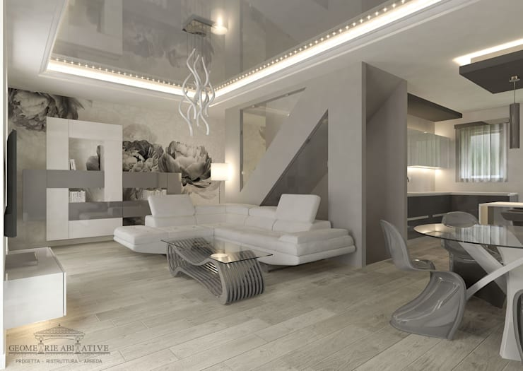 14 idee per ristrutturazioni a secco per la casa for Carta da parati moderna per soggiorno