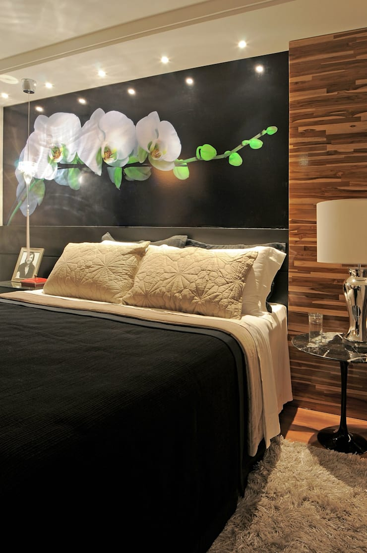 ห้องนอน โดย Juliana Lahóz Arquitetura, โมเดิร์น ไม้ Wood effect