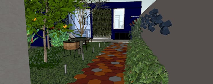 庭院 by Danielle Fabrão Arquitetura e Urbanismo