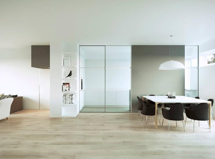 Вид на  столовую зону: Столовые комнаты в . Автор – ECOForma