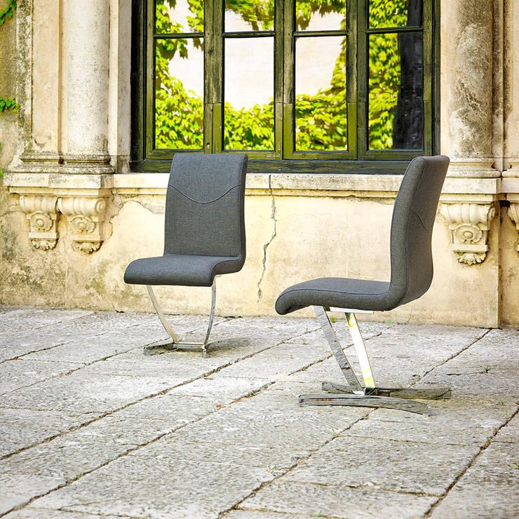 Cadeiras modernas Modern chairs www.intense-mobiliario.com  BERG: Sala de jantar  por Intense mobiliário e interiores;