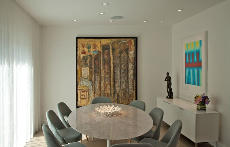 Georgetown Dining Room Lighting :  Dining room by Hinson Design Group