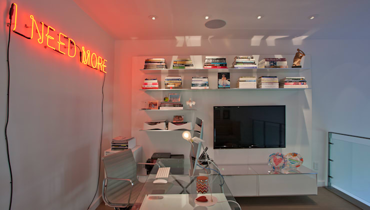 Georgetown Loft Lighting  :  Study/office by Hinson Design Group