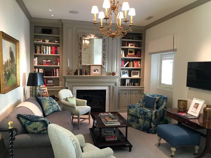 Kalorama Family Room Lighting :  Living room by Hinson Design Group
