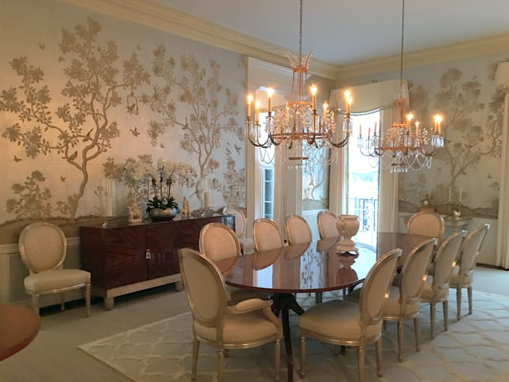 Kalorama Dining Room Lighting  :  Dining room by Hinson Design Group