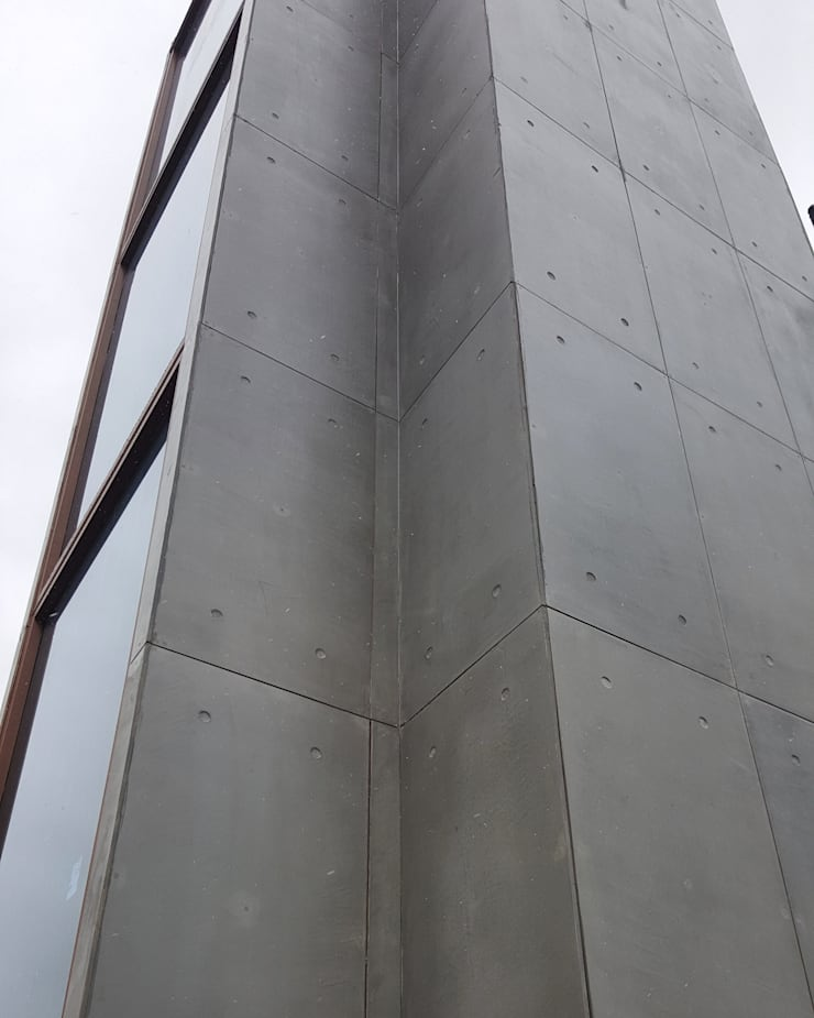 Concrete Facade Outdoor Cladding with CRETOX Beton Panel:  Walls by NETEREN | Decorative Wall Panels
