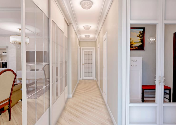 Corridor & hallway by MARIA MELNICOVA студия SIERRA