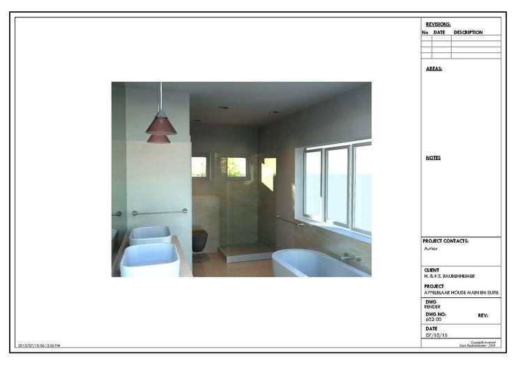 Render showing proposed space: rustic  by Urban Dwellers Design Studio, Rustic
