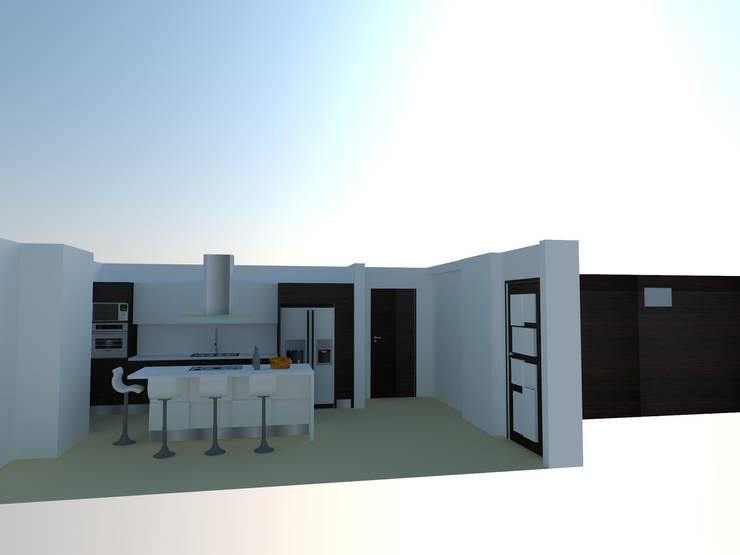 Diseño de Cocinas 3D:  de estilo  por Arte Madera Y Estilo