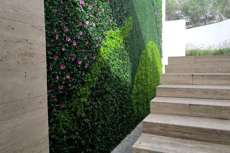 Muros Verdes Exteriores: Edificios de Oficinas de estilo  por Ranka Follaje Sintético