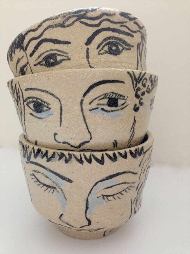 Welcome face cup:  Household by Ceramic Language. Adriana Sambrano