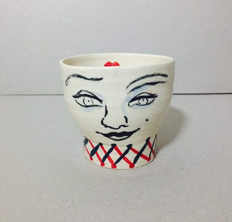 Cup with face:  Household by Ceramic Language. Adriana Sambrano