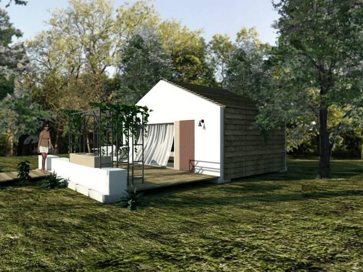 Módulos para turismo rural: Casas  por Grupo Norma