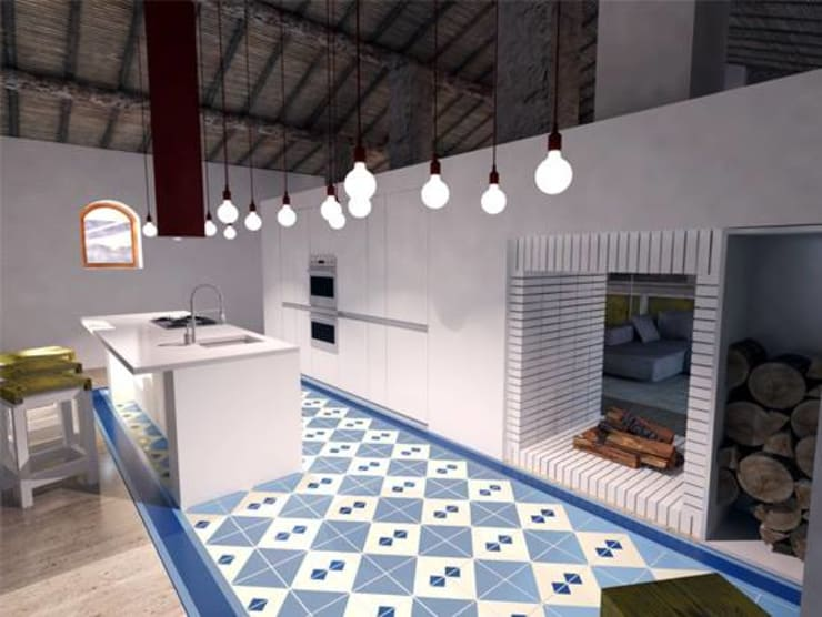 AMPLIAÇÃO DE MONTE ALENTEJANO: Cozinhas  por Grupo Norma