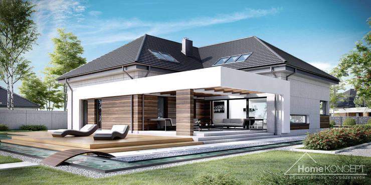 Projekt domu HomeKONCEPT 28: styl , w kategorii Domy zaprojektowany przez HomeKONCEPT | Projekty Domów Nowoczesnych
