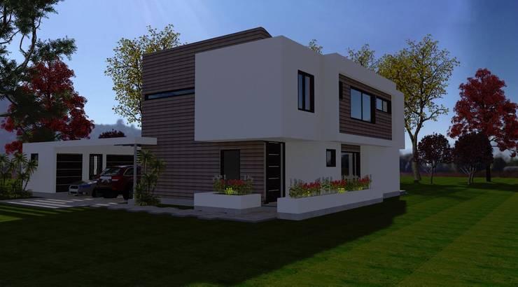Vista del Acceso: Casas de estilo  por ARQvision BIM Sustainable Architecture