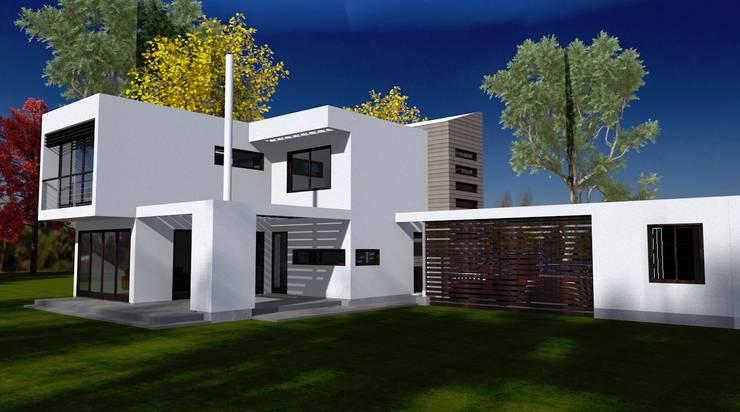 Vista desde el Jardin: Casas de estilo  por ARQvision BIM Sustainable Architecture