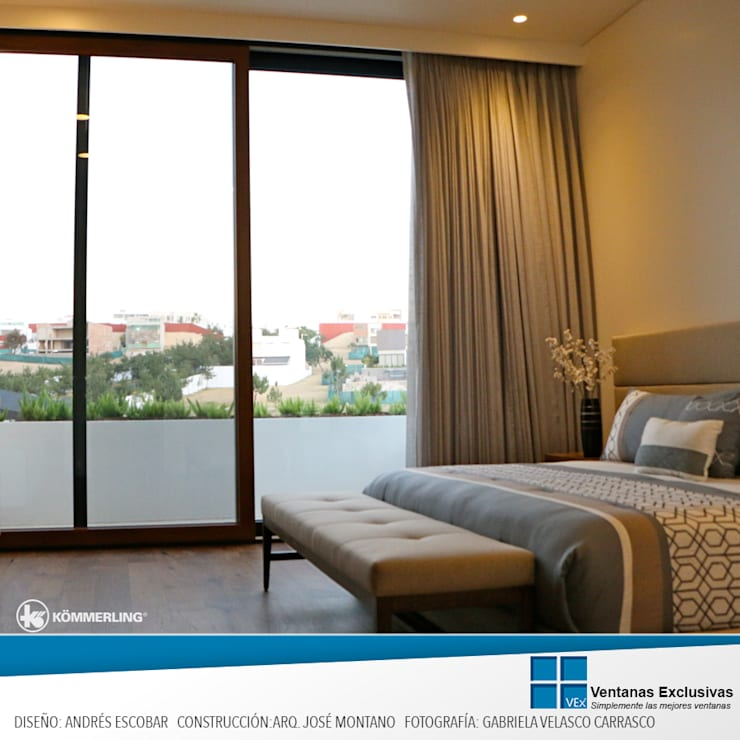 Armonía Visual: Puertas y ventanas de estilo  por Ventanas Exclusivas Guadalajara