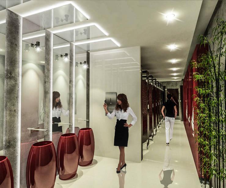 TORRE V1: Baños de estilo  por dlp Arquitectos