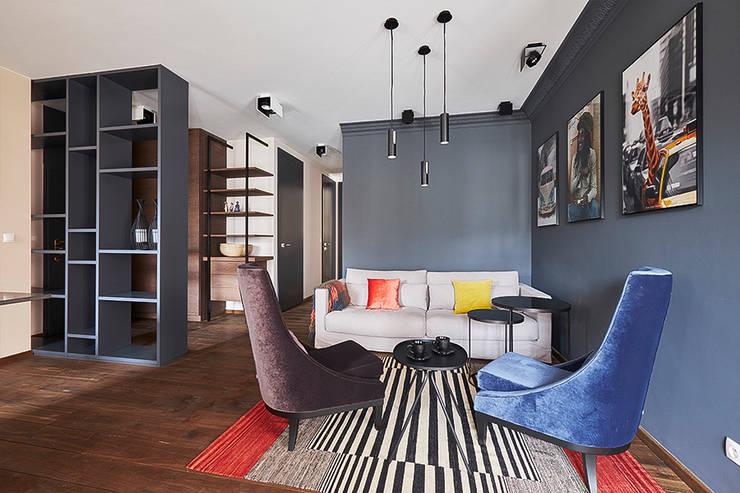غرفة المعيشة تنفيذ Pracownia Projektowa Hanna Kłyk