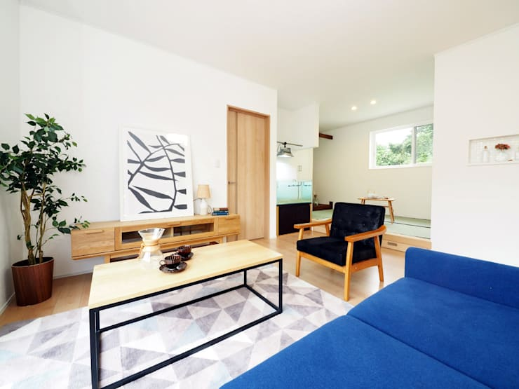 mediterranean Living room by  Live Sumai - アズ・コンストラクション -