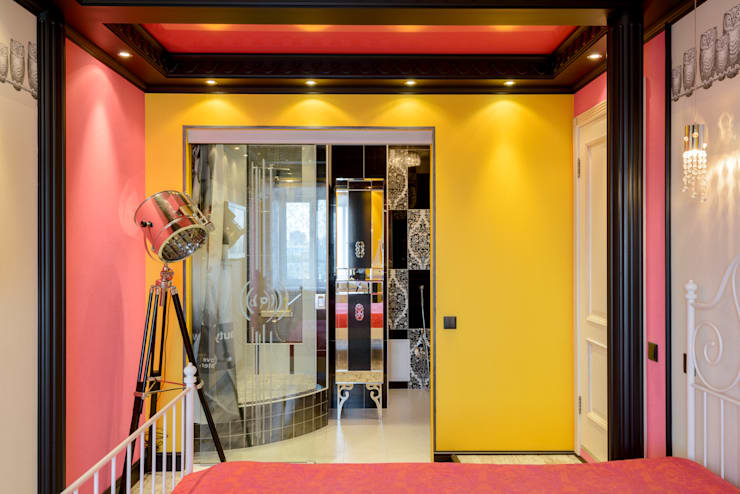 Projekty,  Sypialnia zaprojektowane przez MARIA MELNICOVA студия SIERRA
