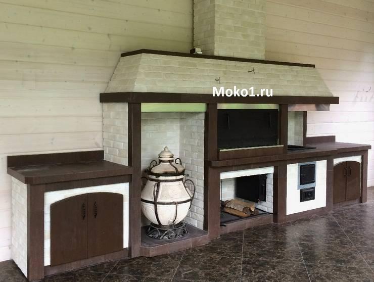 Полноценный барбекю комплекс: Кухня в . Автор – Moko barbecue