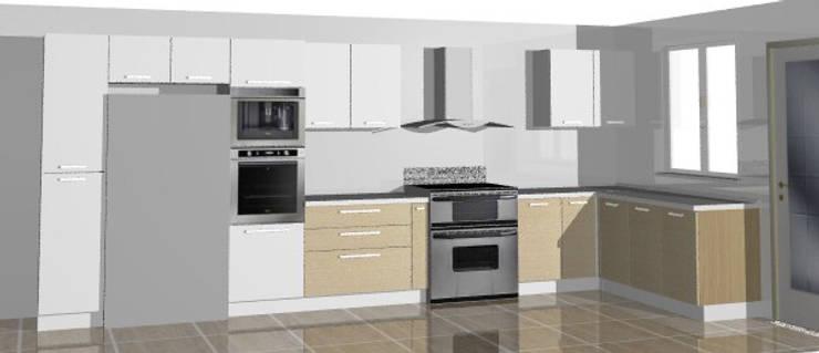 Cocina en vivienda vacacional: Cocina de estilo  por Loft estudio C.A.