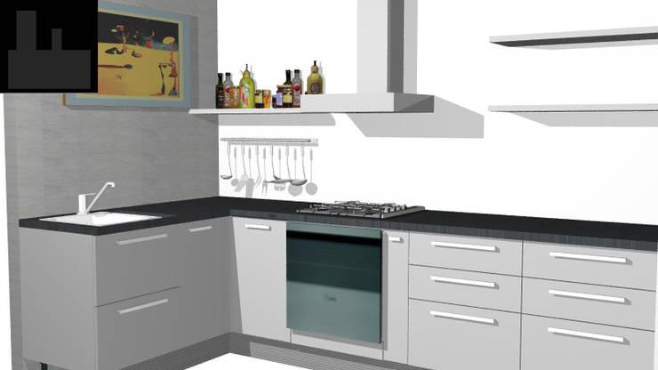Cocina apartamento: Cocina de estilo  por Loft estudio C.A.