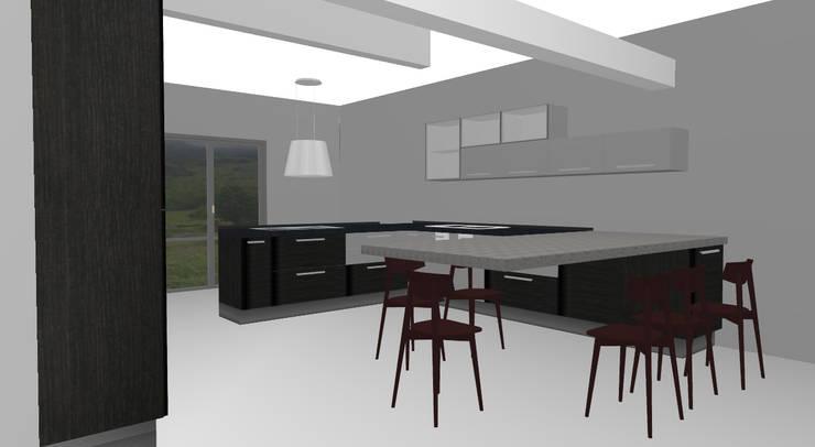 Cocina Vivienda unifamiliar: Cocina de estilo  por Loft estudio C.A.