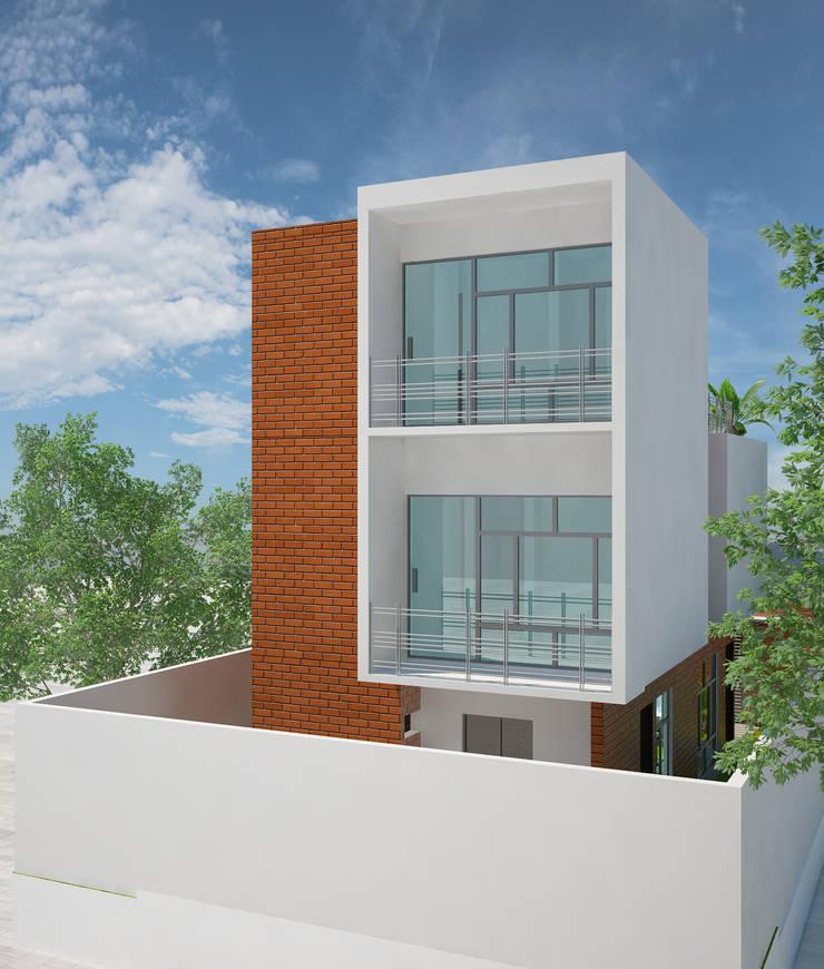Brick House: Casas de estilo  por LOFT ESTUDIO arquitectura y diseño