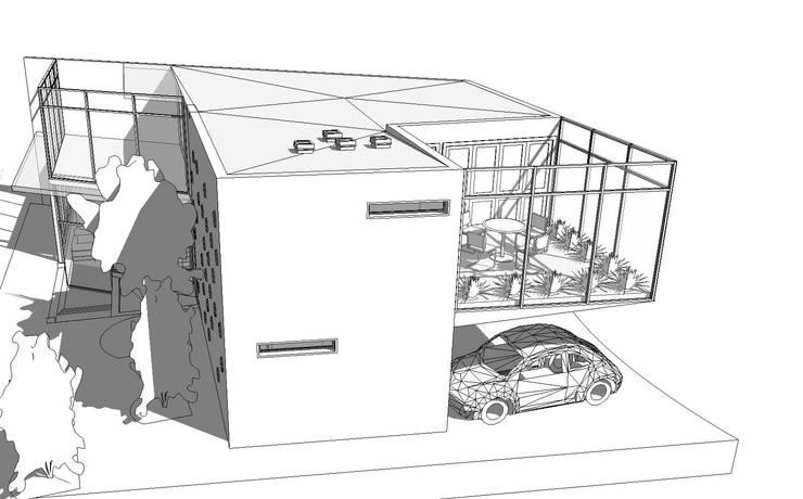 Casa Dr. Monarrez: Casas de estilo  por Atelier X