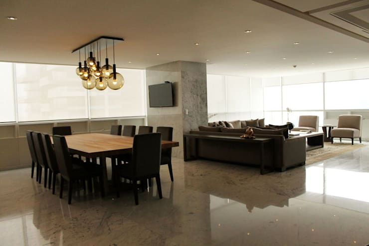 Departamento RK: Salas de estilo  por Concepto Taller de Arquitectura