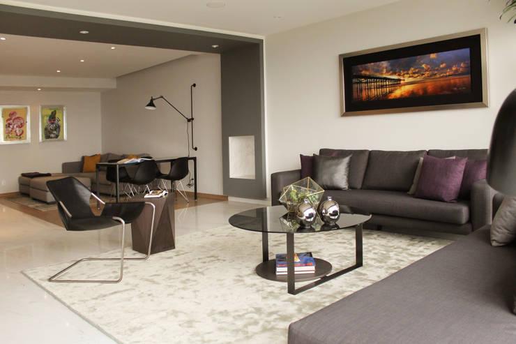 Departamento GD: Salas de estilo  por Concepto Taller de Arquitectura