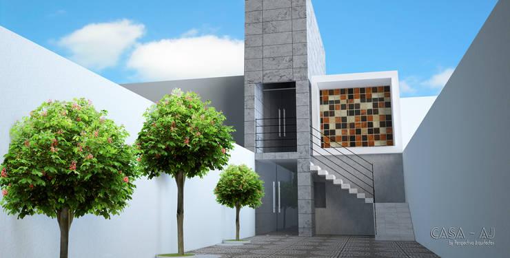 Casa Habitación AJ: Casas de estilo  por Perspectiva Arquitectos México