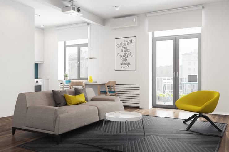 Salas de estilo minimalista de The Goort Minimalista