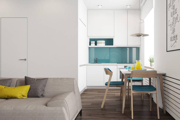 Cocinas de estilo minimalista de The Goort Minimalista