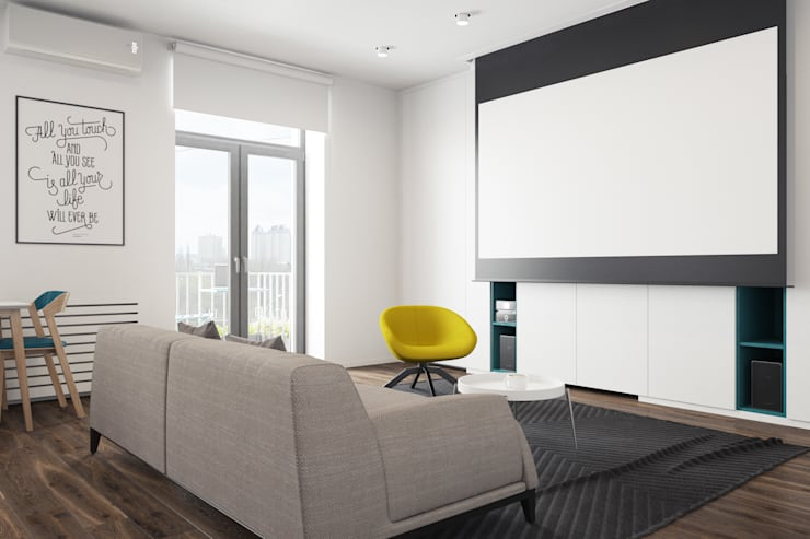 Salas de entretenimiento de estilo minimalista de The Goort Minimalista