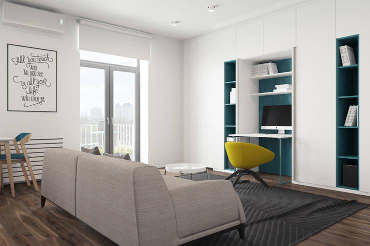 Oficinas de estilo minimalista de The Goort Minimalista