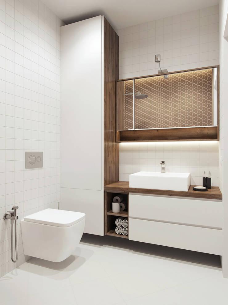 Baños de estilo minimalista de The Goort Minimalista