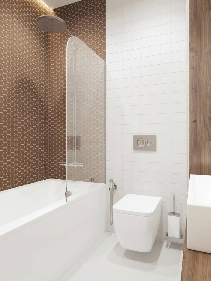 Санузел: Ванные комнаты в . Автор – The Goort, Минимализм