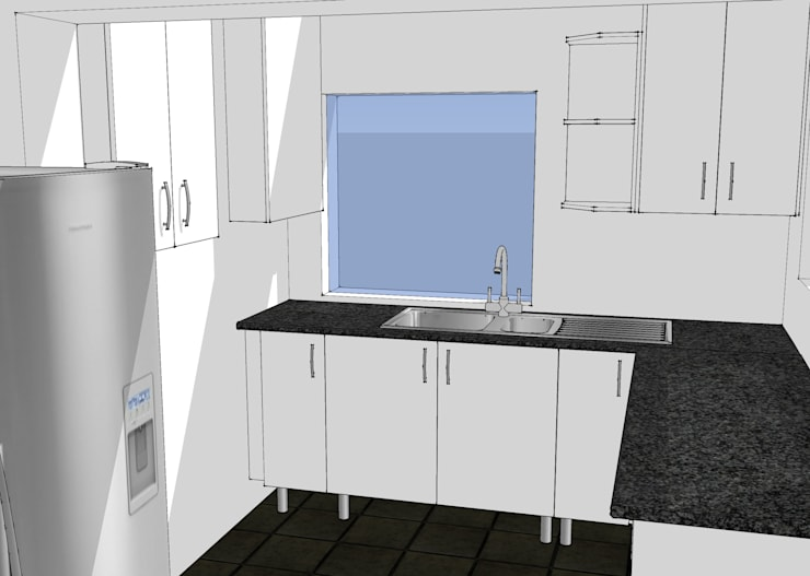 Design Left Hand Side Utilities Area:   by Boss Custom Kitchens (PTY)LTD