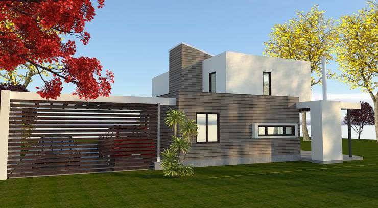 Vista desde el Jardin: Cocinas de estilo  por ARQvision BIM Sustainable Architecture
