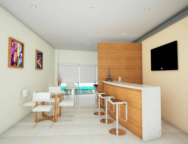Bar y area de juego: Casas de estilo  por PRISMA ARQUITECTOS