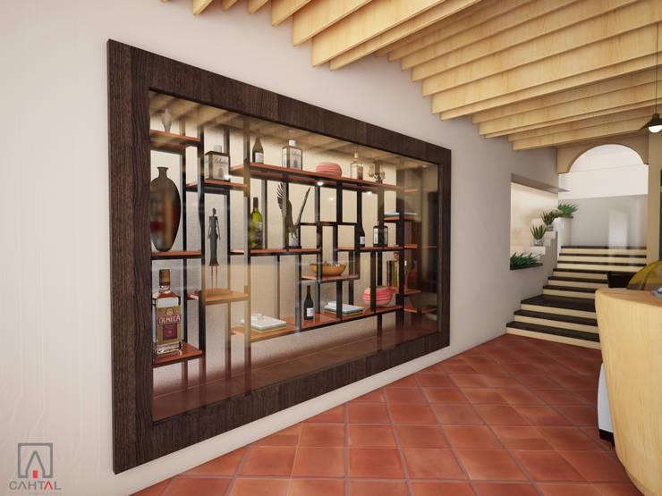 Muro cortina:  de estilo colonial por PRISMA ARQUITECTOS, Colonial Madera Acabado en madera