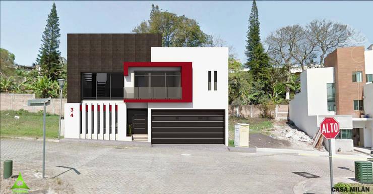 Casas de estilo moderno por PRISMA ARQUITECTOS