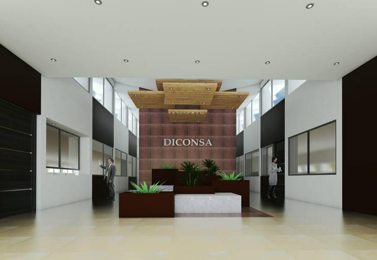 Remodelación de Lobby Diconsa:  de estilo  por PRISMA ARQUITECTOS