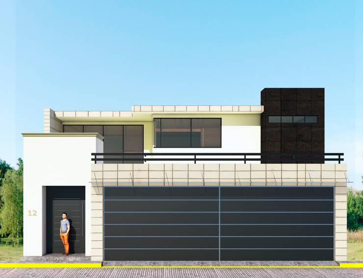Fachada Principal: Casas de estilo  por PRISMA ARQUITECTOS
