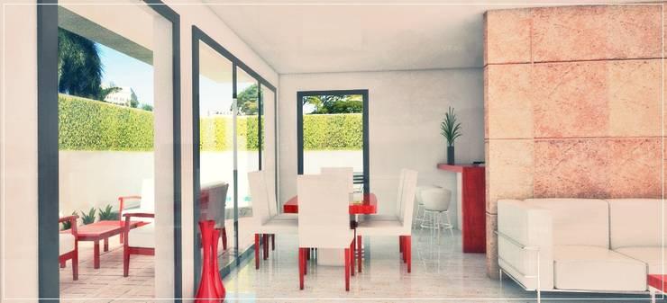 Interior comedor - desayunador: Casas de estilo  por PRISMA ARQUITECTOS